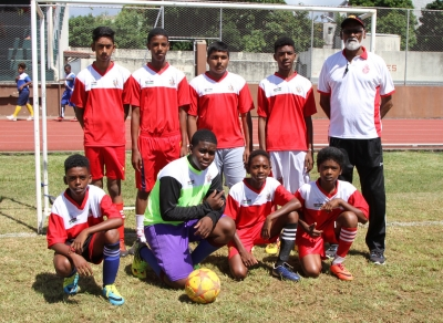 9 a side Football Tournament with the participation of ecole de foot held on Sat 10 Mar 2018 @ Sir Gaetan Duval Stadium