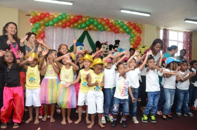 End of year party with the participation of children of Municipal Kindergarten held on Thursday 23 October 2016 at the Roland Hungley Multi Purpose Hall