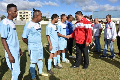 Finale Tournoi de Foot Coupe de lUnite was held on Sunday 7 July 2019 at Sir Gaetan Duval Stadium as from 3 pm