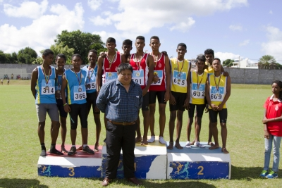 Inter Region Relays Festival in col with BBRH Reg Athletic Ctee held on Sun 8 May 2016 at Sir Gaetan Duval Stadium